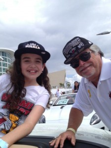 Julia Dale and Micky Arison Heat Victory Parade NBA Champs 2013