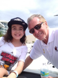 Julia Dale and Pat Riley Heat Victory Parade NBA Champs 2013