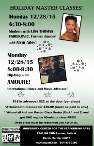 HOLIDAY MASTER CLASSES 2015 PART 2 MODERN AND HIP-HOP